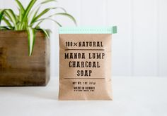 1 Handmade Activated Charcoal and Peppermint Soap in a mini handmade charcoal bag!!!  We hand cut our soaps so the size and shape of each soap is unique!