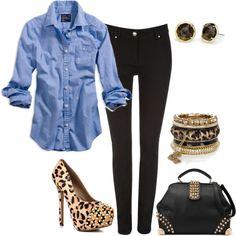 minus heels, plus some cute cheetah flats!
