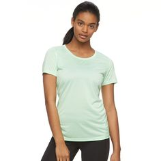 Women's Tek Gear® Performance Base Layer Tee, Size: Large, Lt Green
