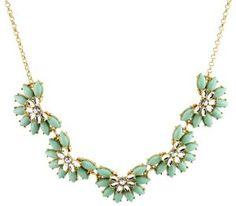 Mint Garden Collar Bib Bubble Statement Necklace  #krissylovesbling