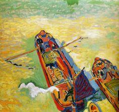 Andre Derain  Les Deux Peniches, 1906, seen at Pompidou Center