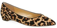 Women's Ivanka Trump 'Chic' Genuine Calf Hair Flat #flats