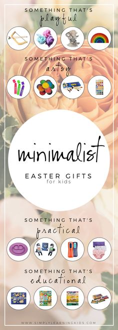 Minimalist Easter Gifts For Kids - Simply Learning Since our family decided to embrace minimalism last year, I've really pushed myself to come up with meaningful gifts for. Easter Gifts For Kids, Diy Gifts For Kids, Gifts For Family, Easter Ideas, Happy Easter, Christmas Gifts For Kids, Holiday Fun, Xmas, Simply Learning