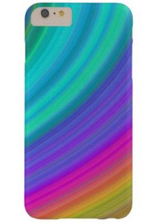 Rainbow Barely There iPhone 6 Plus Case $49.65 *** Abstract rainbow fractal sky design *** rainbow - digital art - fractal - spectrum - dream - fantasy - happy - sky - beauty - abstract - curves - stripe - iPhone case