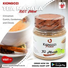 Sometimes a cup of tea makes everything better, especially when a tea is made of right ingredients like Tea Masala from Kiongozi Products. To get this product and many more visit our website www.swahilimart.co.tz  or download Swahili Mart App bit.ly/swahilimart-app Candle Jars, Tea Cups, Beverages, How To Get, App, Website, Food, Products, Essen