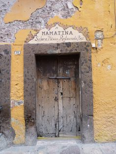 Old door in downtown Queretaro