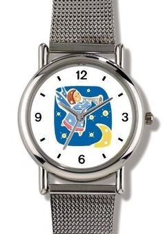 Angel with Bugle No.2 - Cherub, Angel or Cupid Theme - WATCHBUDDY® ELITE Chrome-Plated Metal Alloy Watch with Metal Mesh Strap-Size-Small ( Children's Size - Boy's Size & Girl's Size ) WatchBuddy. $79.95