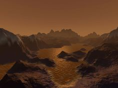 saturn's moon, titan. something painfully beautiful about the stars to me.