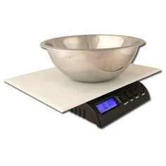 "ZIEIS | 30 Lb. Capacity | Digital Kitchen Scale | BigTop 12"" x 16"" EZ Clean Platform 