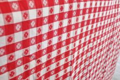 Red And White Cotton Gingham Check Tablecloth by losttreasures2u, $32.99