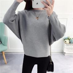 Shop 2018 Korean version autumn and winter new loose joker