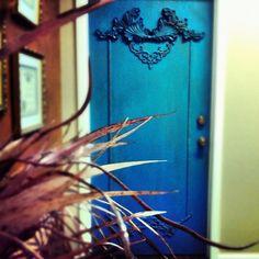 Peacock Blue Custom Door. Would you be so bold? http://www.facebook.com/designbyroi