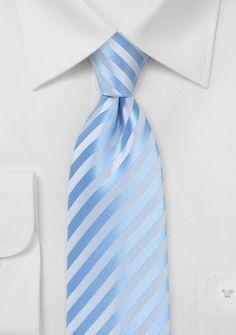Summer Striped Tie in Capri Blue | $5 on Cheap-Neckties
