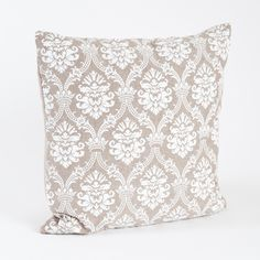 Abbeville Baroque Design Cotton Throw Pillow