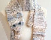 PDF Crochet Pattern for Cat Cuddler Scarf - DIY Fashion Tutorial. $6.00, via Etsy.