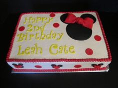 Minnie Mouse inspired Fondant Cake Toppers  Complete Set For Sheet Cake. $25.95, via Etsy.