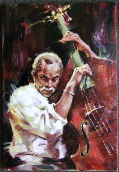 Original Painting, Jazz by Andrew Atroshenko