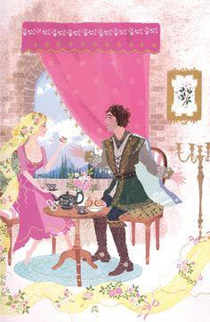 Sarah Gibb #illustration Tea date with prince charming????