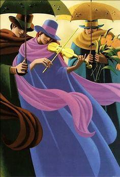 Claude Theberge   La femme au violon jaune    The Woman with the Yellow Violin