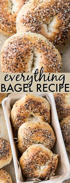 An amazing Everything Bagel Recipe! This is a revolutionized way of making bagels. The process is so much easier with just as amazing results! The inside of the bagel is soft and airy while the outside is chewy and crispy. #valentinascorner #bagel #homemadebagels #everythingseasoning #everythingbagels #bagelrecipe #easybagels #bagels #homemade #simple #soft #chewy