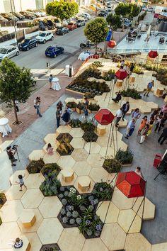 OFL installs zighizaghi, a multi-sensory urban garden in italy