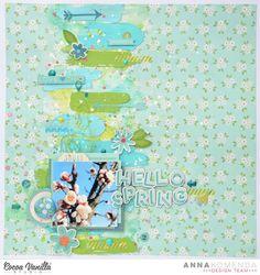 Hello Spring  Sugar and Spice Layout   Anna Komenda   Cocoa Vanilla Studio