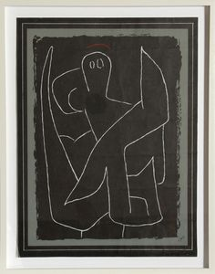 Artist: Paul Klee, After, Swiss (1879 - 1940) Title: Wachsamer Engel (Guardian Angel) Year: circa 1950 Medium: Lithograph, signed in the plate Size: 19 in. x 14 in. (48.26 cm x 35.56 cm) Frame Size: 22 x 17 inches
