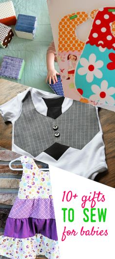 gifts to sew for babies | baby toy patterns | baby dress pattern | baby bib pattern