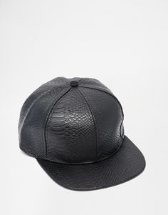 Cap by ASOS Leather-look fabric Faux snakeskin texture Domed crown with button top Flat peak Adjustable snapback fastening Wipe with a damp cloth Polyurethane Asos Online Shopping, Online Shopping Clothes, Chiffon, Texture, Snapback Cap, Black Faux Leather, Latest Fashion Clothes, Snake Skin, Baseball Hats