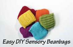 Easy DIY Sensory Beanbags | From Blue Bells and Cockle Shells