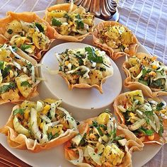 Yufka çanakta patates salatası