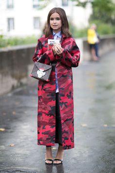 Streetstyle – Miroslava Duma wearing Valentino