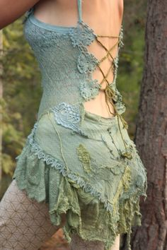 Ethereal elven mini dress the spirit of Water with by FractalWings