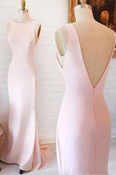 Pink chiffon prom dress, ball gown 2017