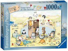 Ravensburger Puzzle 1000pc - Crazy Cats Caravan