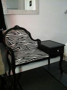 Meuble tel fauteuil voltaire zèbre