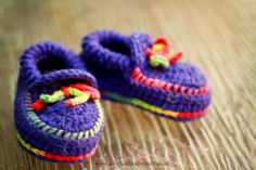 Crochet Baby Booties Crocheted Baby Moccasins...