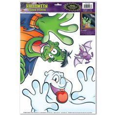 Beistle - 01033 - Halloween Peeper Clings- Pack of 12