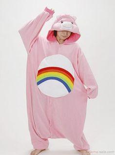 Adult onesies rainbow bear Kigurumi animal onesies