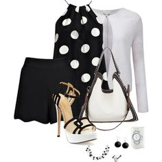Black and white 504 by adgubbe on Polyvore featuring polyvore, fashion, style, Pure Collection, Boohoo, Charlotte Olympia, Givenchy, Georg Jensen, La Mer and Karen Kane