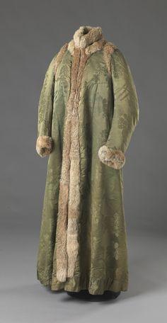 Coat, ca. 1800, fabric dates from 1746