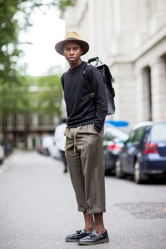 The 21 Most Fashionable Fellas In London #refinery29 #slide9 We plan on our wearing our chinos this way from now on. Roll 'em up!