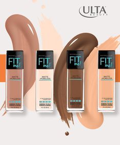 Maybelline Fit Me! Matte + Poreless Foundation goes beyond skin tone matching to fit the unique texture issues of normal to oily skin for the ultimate natural skin fit. Shop Liquid Foundation at Ulta.com.