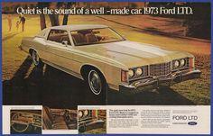 Vintage 1972 '73 FORD LTD Automobile Car Ephemera Art Decor Print Ad 1970's #Ford