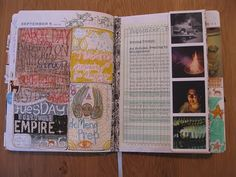 Jessica Herman Goodson  These are some pages from Aug/Sept of my No More Excuses Journal. This is an online class offered by Gina Armfield, and if you are thinking about it, wondering about it, just take it. Gina creates a great program to get you working daily, in little ways. Then the calendar becomes the journal for it, which is a fantastic way to keep you on track. The structure is built in. Before you know it you are doing your own thing.