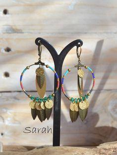 Boucles d'oreilles Sarah, collection Toucan- L'Atelier des Misstinguettes -+ Avignon
