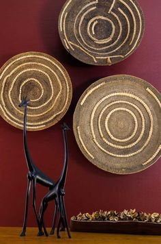 One-of-a-kind Zambian wedding baskets. Perfect for hanging on your wall. #makenge