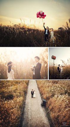Korean outdoor pre-wedding photoshoot in Haneul Sky Park