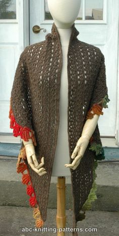 ABC Knitting Patterns - Fall Leaf Stole Shawl Patterns, Knitting Patterns Free, Free Pattern, Crochet Patterns, Free Crochet, Knit Crochet, Crochet Shawls And Wraps, Pregnancy Signs, Autumn Leaves