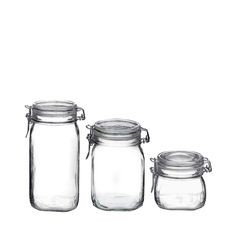 Bormioli Rocco Fido Canning Jar, Set of 3 oz. Glass Storage Jars, Jar Storage, Kitchen Storage, Storage Canisters, Glass Canisters, Le Creuset, Crescent Sausage Bites, Grace Home, Chic Antique